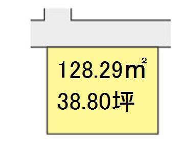 土地価格700万円、土地面積128.29m<sup>2</sup>