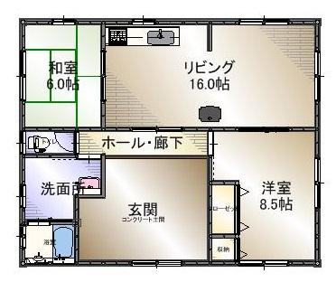 780万円、2LDK、土地面積228.76m<sup>2</sup>、建物面積81.98m<sup>2</sup>