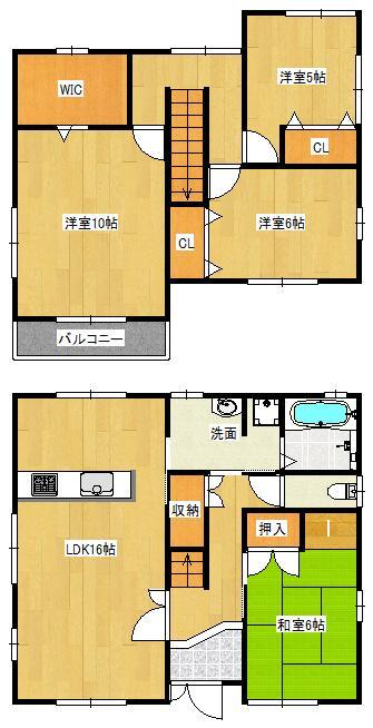 2080万円、4LDK+S(納戸)、土地面積148.65m<sup>2</sup>、建物面積109.3m<sup>2</sup>