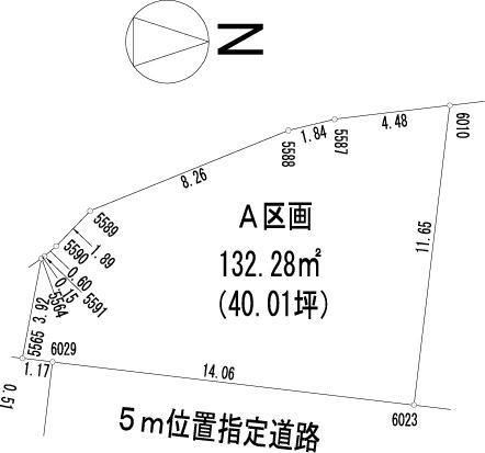 土地価格752万円、土地面積132.28m<sup>2</sup>
