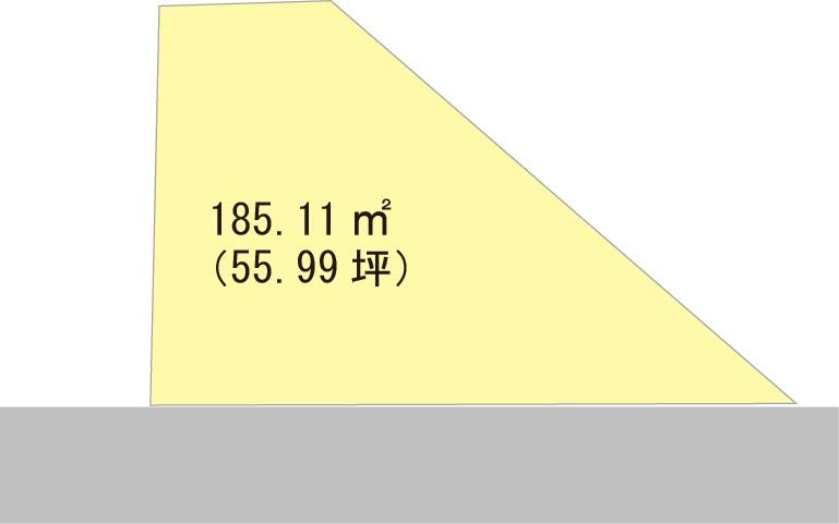 土地価格390万円、土地面積185.11m<sup>2</sup>