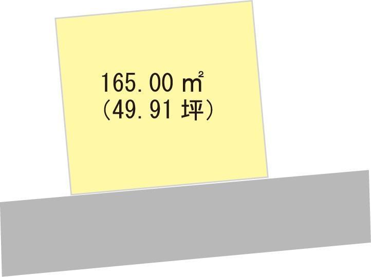 土地価格249万6000円、土地面積165m<sup>2</sup>