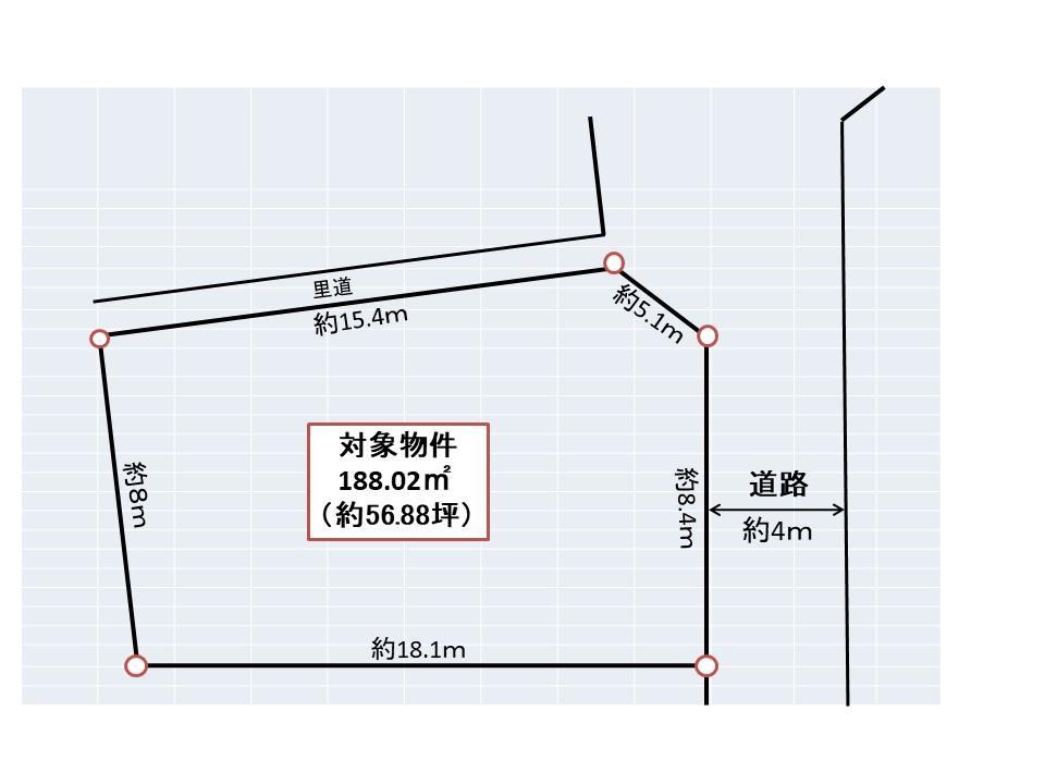土地価格1790万円、土地面積188.02m<sup>2</sup>