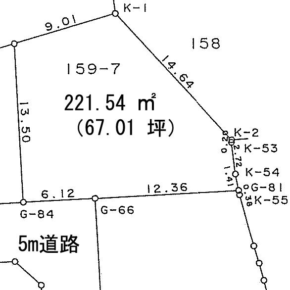 土地価格804万円、土地面積221.54m<sup>2</sup>