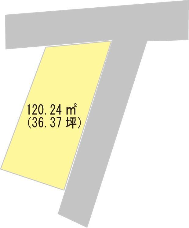 土地価格430万円、土地面積120.24m<sup>2</sup>
