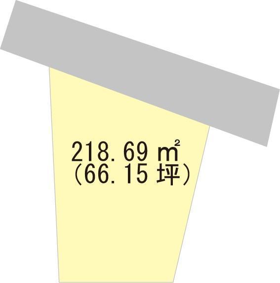 土地価格714万円、土地面積218.69m<sup>2</sup>