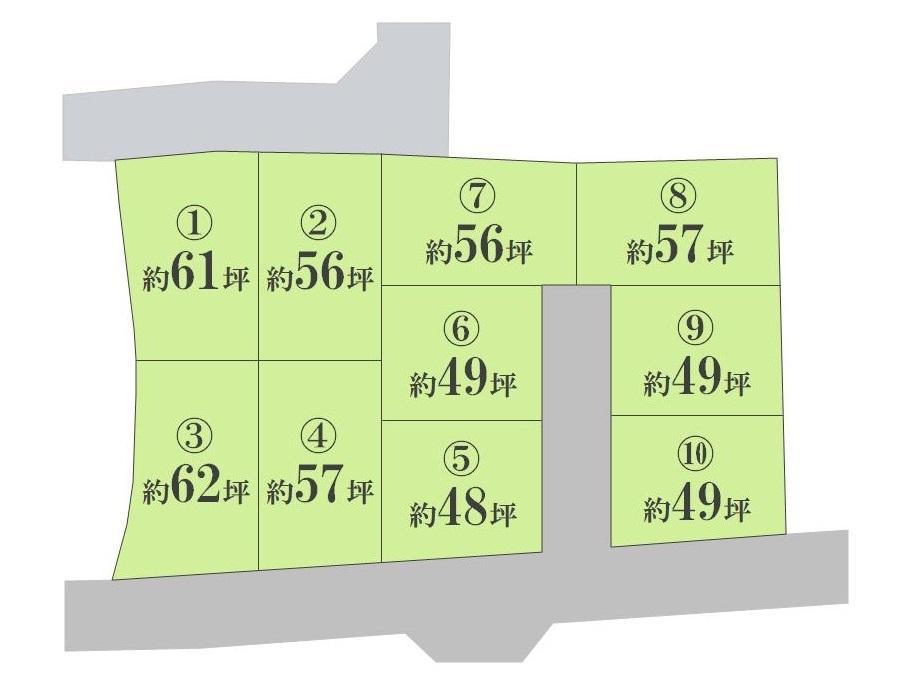 約48~62坪。全10区画の開発分譲地です。20年地盤保証付き物件です。お時間の許す限りご案内させて頂きます!<BR>フリーダイアル:0800-603-2385もしくは上記の「見学予約フォーム」からお申込みください。
