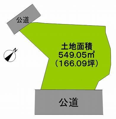 土地価格2990万円、土地面積549.05m<sup>2</sup> 敷地約166坪