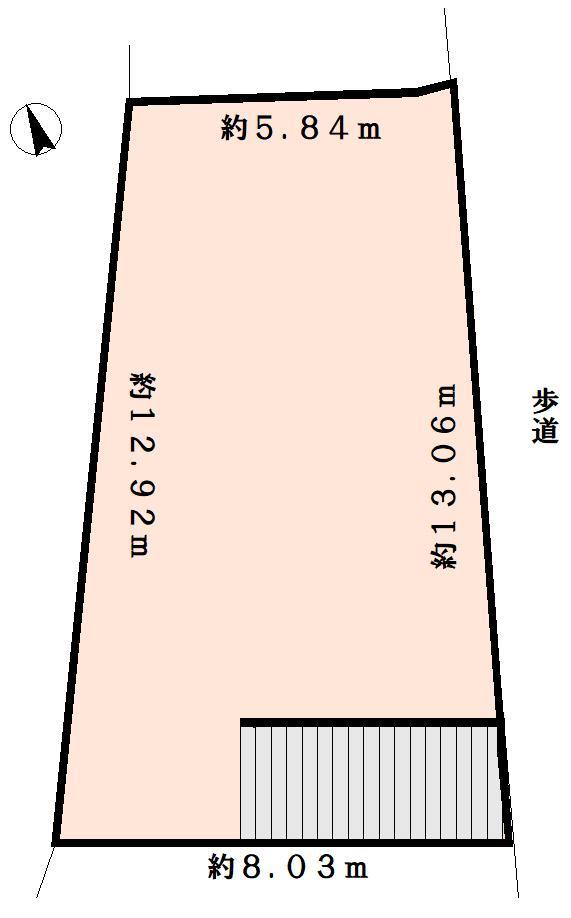 土地価格500万円、土地面積57.39m<sup>2</sup> ☆建築条件無しです(^^)