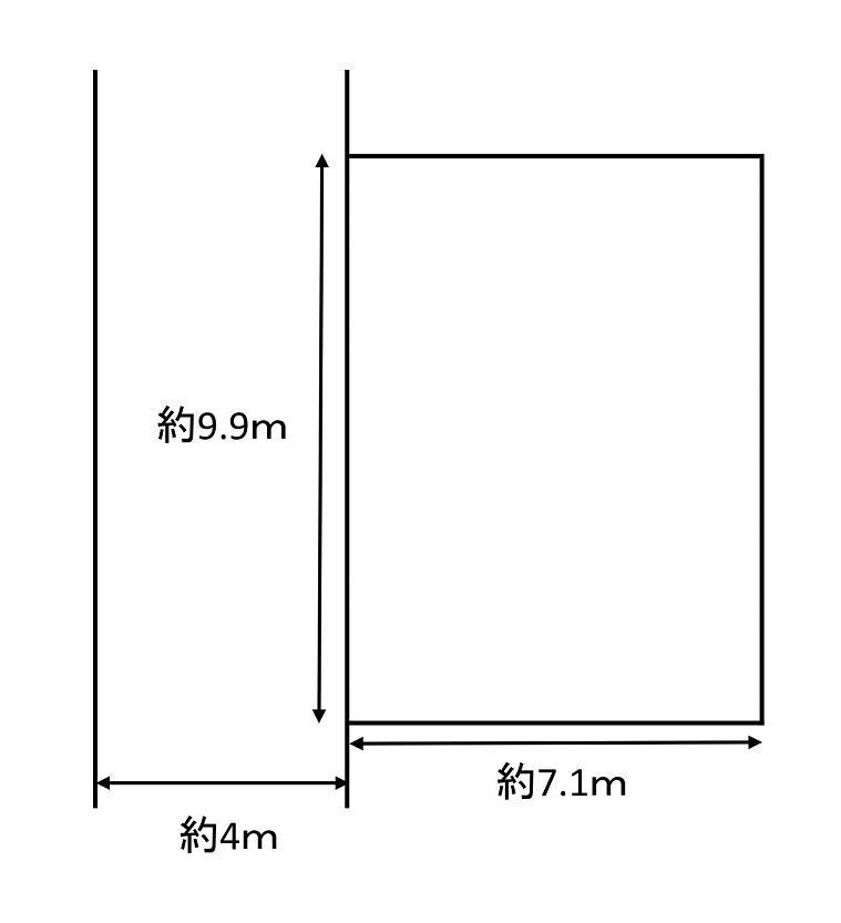 土地価格1279万円、土地面積71.72m<sup>2</sup> 土地形状図