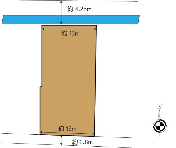 土地価格3200万円、土地面積423.14m<sup>2</sup>
