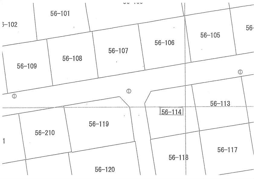 土地価格500万円、土地面積209.55m<sup>2</sup> 公図