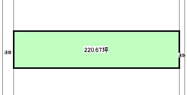 土地価格1324万円、土地面積729.5m<sup>2</sup>