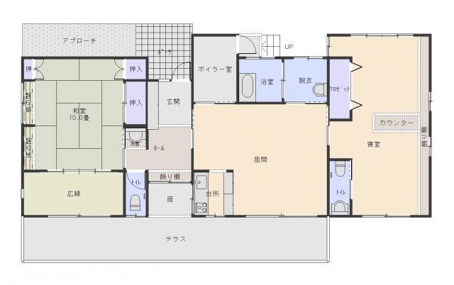 1980万円、2LDK、土地面積3149.52m<sup>2</sup>、建物面積119.55m<sup>2</sup>