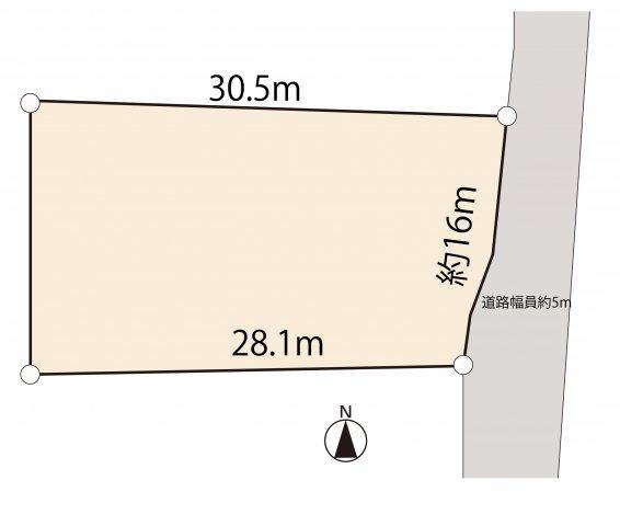 土地価格3750万円、土地面積496.12m<sup>2</sup>
