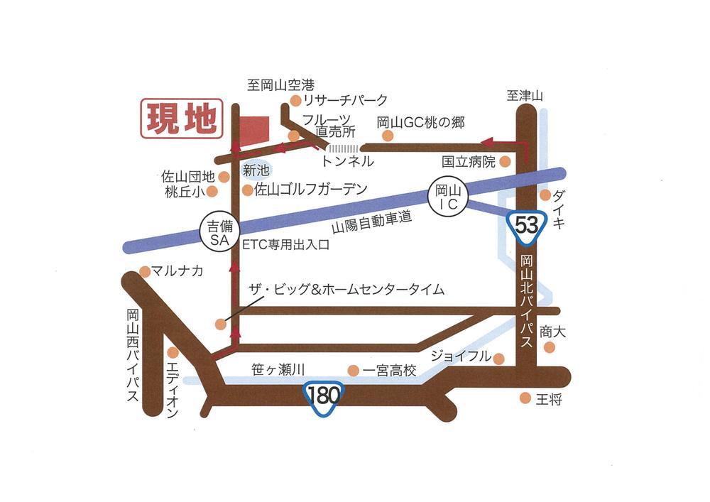 芳賀佐山から<BR>もしくは53号バイパスから分かりやすいです。