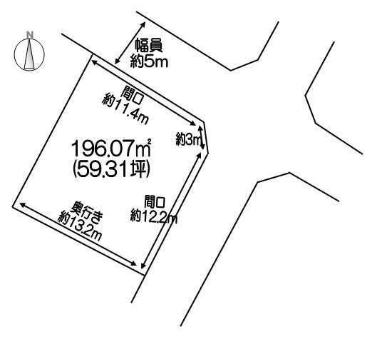 土地価格562万円、土地面積196.07m<sup>2</sup>