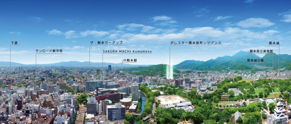 ポレスター熊本新町レジデンスの建物の特徴画像
