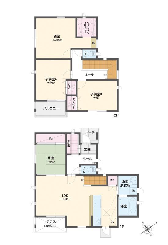(№10)、価格2780万円、4LDK、土地面積168.66m<sup>2</sup>、建物面積108.72m<sup>2</sup>