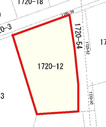 土地価格400万円、土地面積226.14m<sup>2</sup> 北側道路に面しています