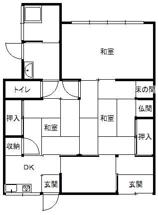 180万円、3DK、土地面積95.72m<sup>2</sup>、建物面積93.07m<sup>2</sup>