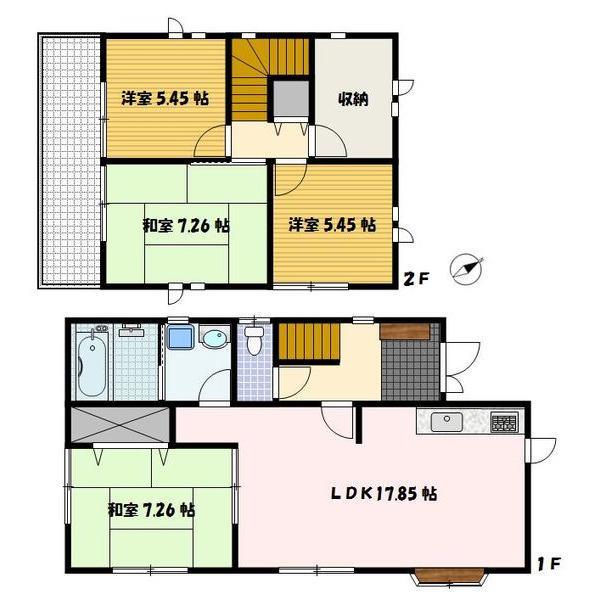 1700万円、4LDK、土地面積130.79m<sup>2</sup>、建物面積104m<sup>2</sup> 4LDKタイプの邸宅でLDKが広々としており家族団らんと過ごせます♪