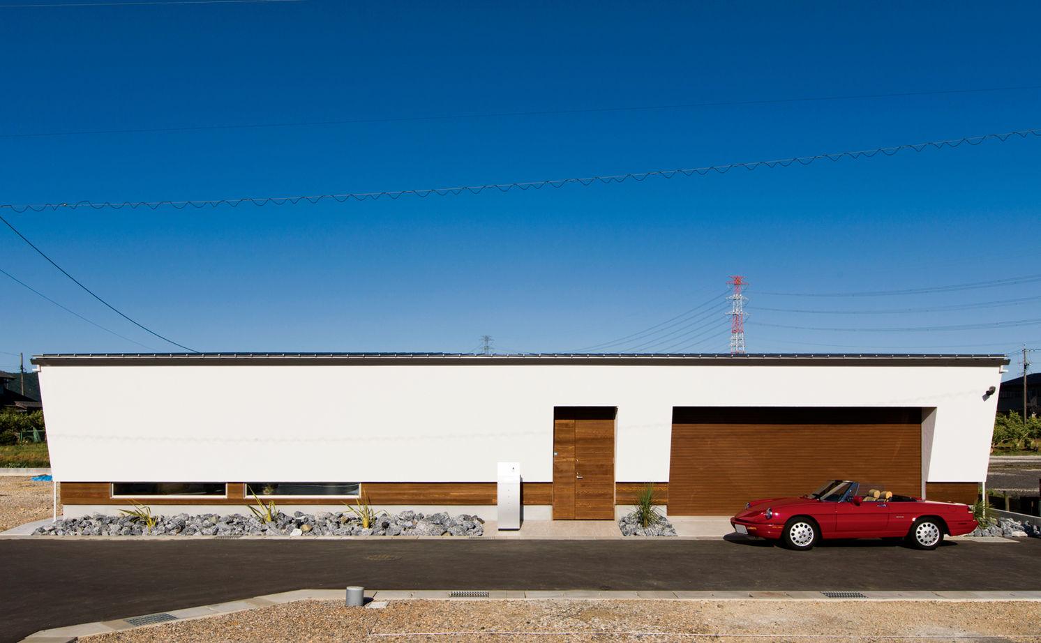 平屋 ビルトイン ガレージ ビルトインガレージのある間取り【30坪】愛車・趣味を楽しむ平屋・2階建て・3階建て4パターン