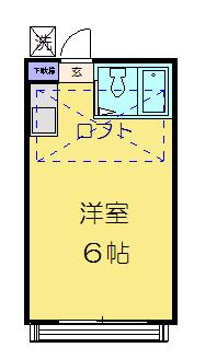 西川口コスモスパートIの間取り
