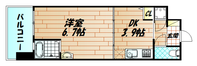 No.47PROJECT2100小倉駅の間取り