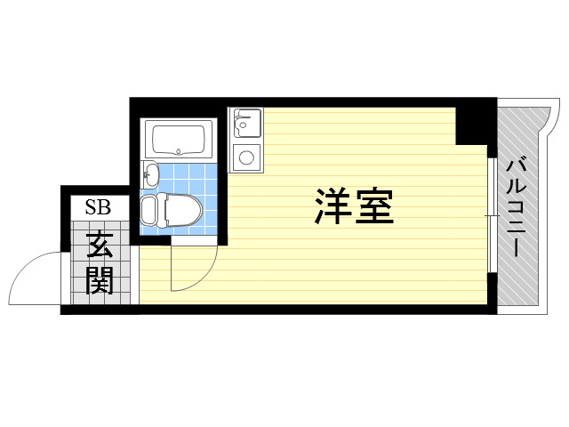 ライオンズマンション新大阪第5の間取り