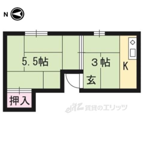 田中アパートの間取り