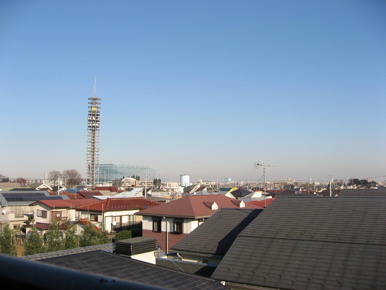眺望 最上階は陽当・解放感良好です!田無タワー方面を望む!