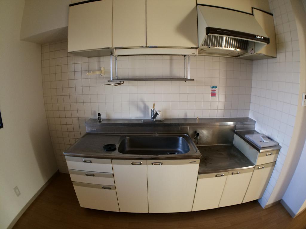キッチン 2口ガスコンロ設置可能
