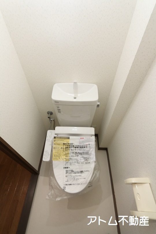 トイレ トイレ、新品です。温水洗浄便座になりました!