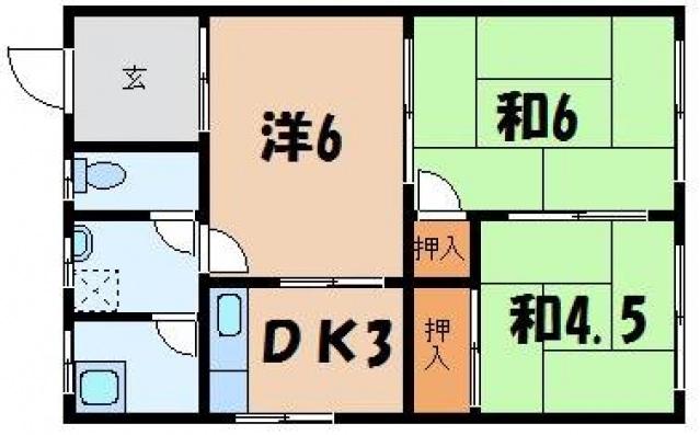 真田アパートの間取り