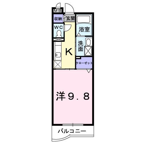 コンフォータブル西条【Comfortable Saijo】★の間取り