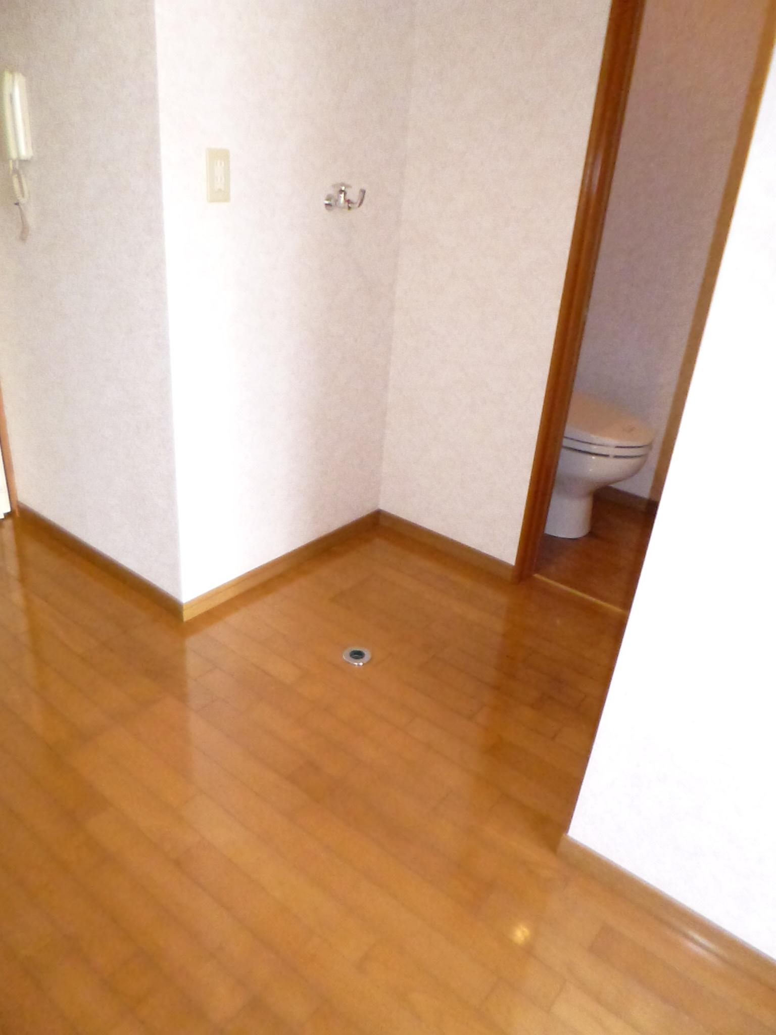 その他部屋・スペース トイレに脇に洗濯機置き場があります。
