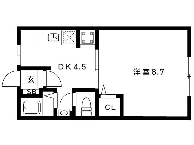 岡本梅林住宅5号棟の間取り