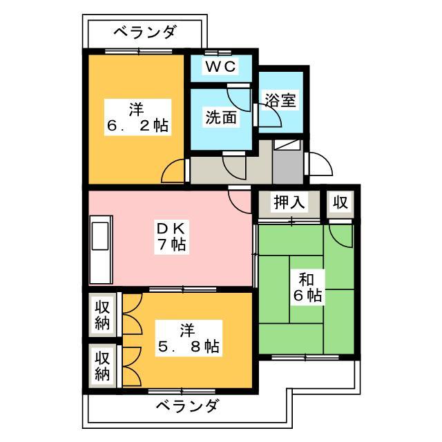 アビタシオン富士の間取り