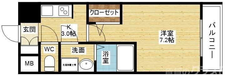 S-RESIDENCE新大阪Gardenの間取り