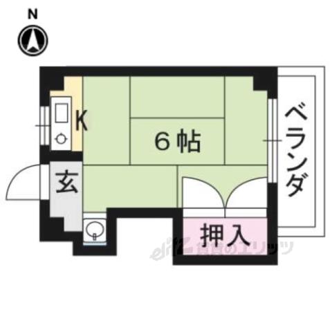 森田マンション東棟の間取り