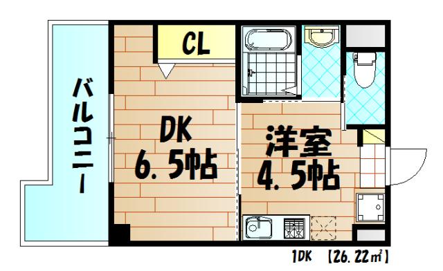 コンダクト小倉No.1ビルの間取り