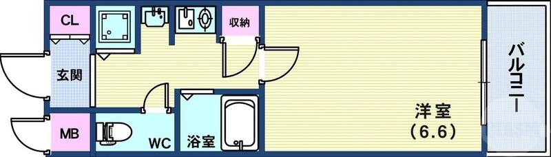 ロイヤルヒル神戸三ノ宮IIの間取り