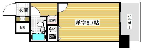 朝日プラザアルファポート神戸の間取り