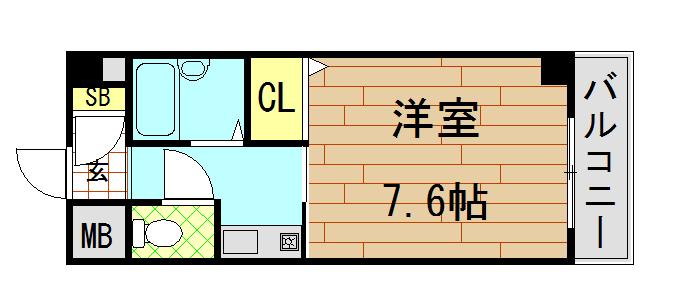 ウイングコート東大阪の間取り