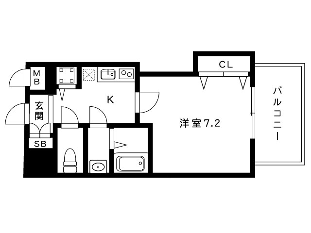 luxe芦屋南の間取り