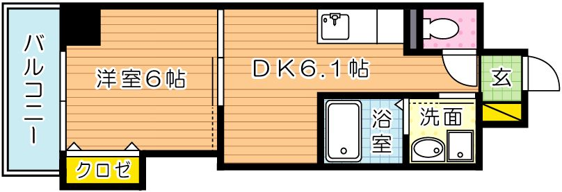 THE SQUARE Suite Residence(ザ・スクエア・スの間取り
