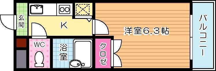 ライオンズマンション小倉駅南第2の間取り