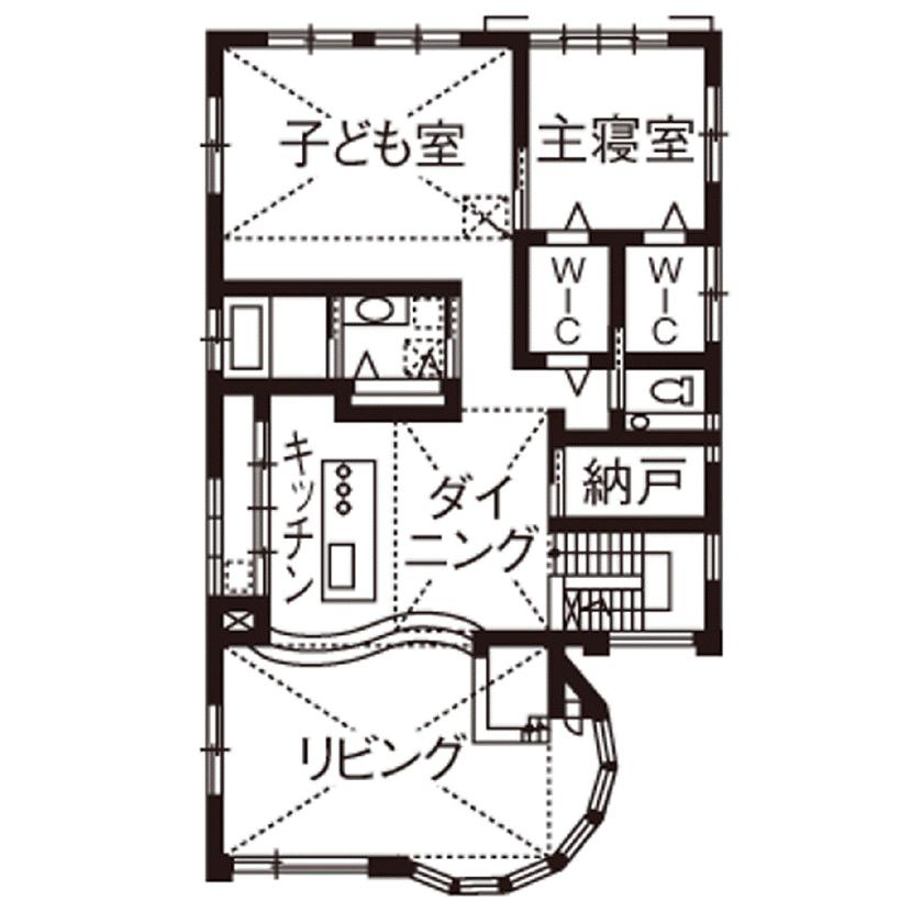 【4000万円~】高台を愉しむ家。アール設計の眺望リビング、上品なインテリア…繊細に想いを形に画像5