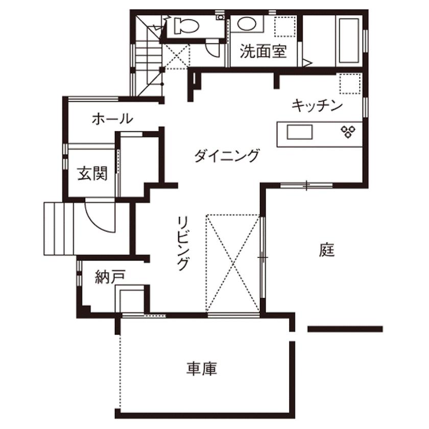 【2500~3000万円】彩り鮮やかで上品なインテリアで空間をデザイン。ガラス張りのインナーガレージのある家画像4